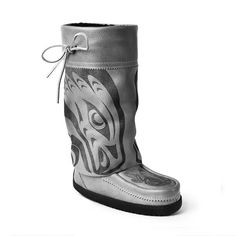 Louie Gong for Manitobah Mukluks - limited edition in 2 colors - click through for order details and price
