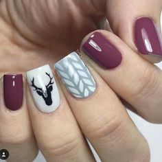 Popular Festive Christmas Nail Art Design Ideas These trendy Nails ideas would gain you amazing compliments. Check out our gallery for more ideas these are trendy this year. Winter Nail Art, Winter Nails, Fall Nails, Holiday Nails, Christmas Nails, Holiday Mood, Diy Christmas, Trendy Nails, Cute Nails
