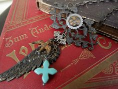 Dark Wing Necklace Goth Jewelry by lilruby on Etsy, $52.00