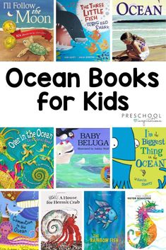 Dive into summer fun with these ocean books for kids! Great for an ocean preschool theme or for a summer reading program. Preschool Books, Preschool Lessons, Preschool Activities, Summer Camp Themes, Summer Fun, Summer Preschool Themes, Summer Crafts, Beach Theme Preschool, Ocean Lesson Plans