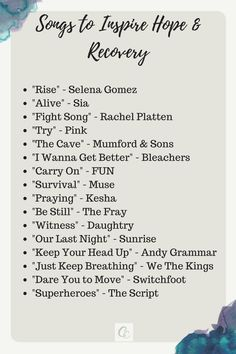 Songs to help in fighting anxiety