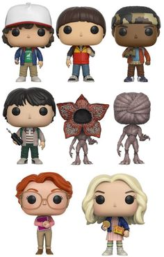 A funko pop Stranger Things Funko Pop, Stranger And Stranger, Stranger Things Quote, Stranger Things Aesthetic, Stranger Things Season 3, Eleven Stranger Things, Stranger Things Netflix, Funko Pop Dolls, Pop Vinyl Figures