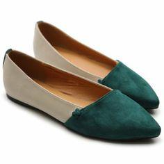 Amazon.com: Ollio Women's Ballet Comfort Faux Suede Two-tone Multi Colored Shoe Flat: Shoes