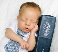 This is soo cute! So doing this with the next baby :) he just needs a little future missionary tag on (: