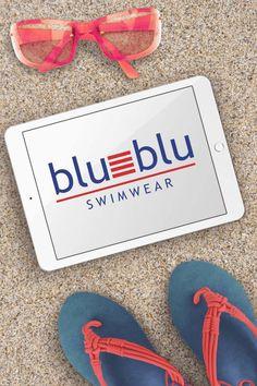 Blu-Blu Swimwear Logo Development - Cosmic Creations Source by jopetzer logo