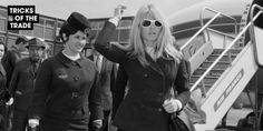 The best airport style inspiration to steal from these 25 vintage icons who knew how to travel in style: Brigitte Bardot Bridget Bardot, Brigitte Bardot, Catherine Deneuve, Jane Fonda, Jackie Kennedy, Marie Christine Barrault, Divas, Look Star, Cult