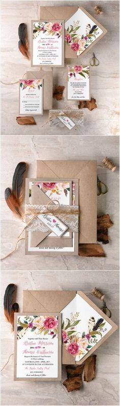 Convites com pegada rústica e muito papel craft foi o que mais vimos neste série do Reino Unido. Venhase inspirar com os 10 convites de casamento mais pinados no Reino Unido