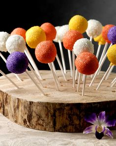 "Natural Wood Tree Slice  Cake Pop Displays 16-18""  with 50 Holes   $57 each"