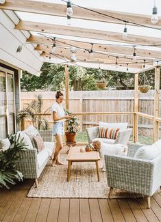 The patio of a house can be settings for many unique things. Whether you have a tiny space or a larger one, you want your outdoor space to be comfortable and nice. Your patio supplies the foundation for your outdoor living space. Outdoor Seating, Outdoor Spaces, Outdoor Living, Garden Seating, Outdoor Balcony, Balcony Railing, Lets Stay Home, Backyard Patio Designs, Backyard Ideas