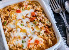 Dieser Hack-Reis-Auflauf mit Weißkohl und Tomaten ist direkt aus dem Auflauf-Himmel herabgestiegen. Cheap Meals, Fried Rice, Lasagna, Macaroni And Cheese, Food And Drink, Low Carb, Health, Ethnic Recipes, Kitchen