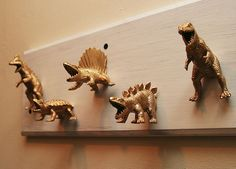 Dinosaur Coat Hooks: 6 Steps (with Pictures) Diy Coat Hooks, Diy Coat Rack, Diy Hooks, Dinosaur Room Decor, Dinosaur Kids Room, Dinosaur Dinosaur, Dinosaur Crafts, Decorative Wall Hooks, Deco Design