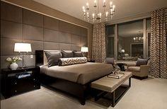 Bedroom: Perfect Interior Design Ideas Master Bedroom Sparkling Round Chandelier…