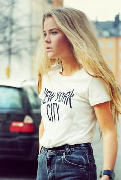 Classic denim with a white tee