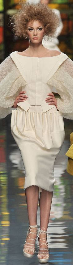 Christian Dior... that top with a pencil skirt or skinnies! The skirt with a body suit or a tight off the shoulder top... just sayin'