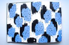 Something blue art journal page ~ craftycreator