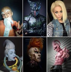 Self-Taught Make-Up Artist Transforms Herself Into The Most Amazing Cosplays Ever Best Cosplay Ever, Epic Cosplay, Amazing Cosplay, Cosplay Ideas, Dragon Ball Z, Realistic Dragon, Goku Cosplay, Aztec Tattoo Designs, Dbz