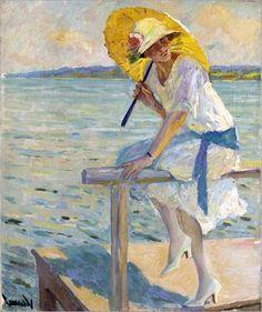 2 Edward Cucuel, The Yellow Parasol