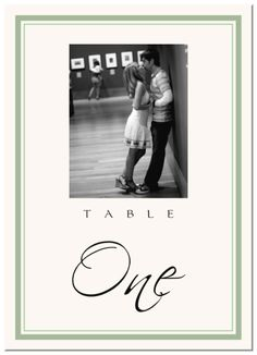 Engagement Photography Wedding Table Numbers