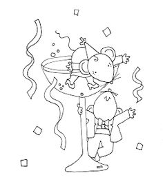 Free Dearie Dolls Digi Stamps: Happy New Year Mousies