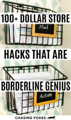 Dollar store hacks that are perfect for DIY projects. These dollar store crafts . - Dollar store hacks that are perfect for DIY projects. These dollar store crafts will really help yo - Dollar Store Hacks, Astuces Dollar Store, Dollar Stores, The Dollar Store, Dollar Tree Decor, Dollar Tree Crafts, Dollar Tree Finds, Craft Room Storage, Storage Ideas