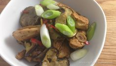 Sichuan Chicken and Eggplant | #paleo friendly recipe by captaincavedan.com Clean Recipes, Eggplant, Baked Potato, Sausage, Paleo, Potatoes, Meat, Chicken, Baking