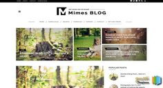 Mimes Blog Photography Blogger Template