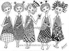 Friends #doodle #zentangle