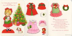 Christmas Paper Doll Card - Karen * 1500 free paper dolls at Arielle Gabriels International Paper Doll Society also her memoir childhood Joys and miracles The Goddess of Mercy also known as Kuan Yin & The Dept of Miracles *