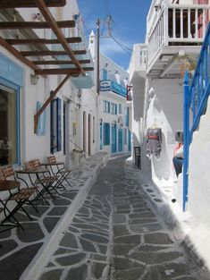 Mykonos, Mikonos, Greece — Cute little streets of Mykonos town #mykonos #greece