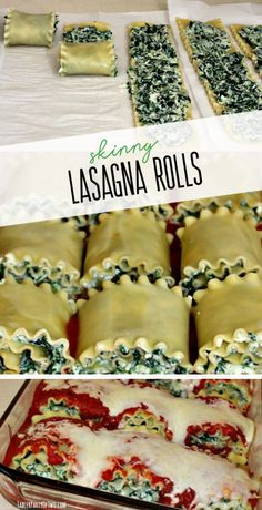 Skinny Lasagna Rolls are the perfect quick and easy weeknight recipe. These healthy spinach lasagna roll ups are portion controlled and stuffed with low fat mozzarella cheese and ricotta cheese. Spinach Lasagna Rolls, Ricotta Cheese Recipes Pasta, Healthy Spinach Recipes, Spinach Roll Ups, Lasagna Rolls Recipe, Healthy Lasagna Recipes, Easy Lasagna Rolls, Healthy Lasagna Rolls, Vegetarian Lasagna Roll Ups