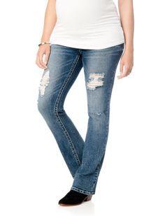 Wallflower Motherhood Maternity Secret Fit Belly Flap Pocket Boot Cut Maternity Jeans