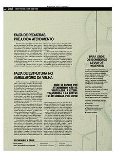 """Série """"No limite da emergência"""". Reportagem: Fernanda Ribas / Edição: Cleisi Soares / Design: Valquíria Ortiz / Fotografia: Lucas Amorelli"""