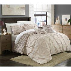 Trefort 11 Piece Bed in a Bag Comforter Set by Chic Home - CS2542-BIB-HE