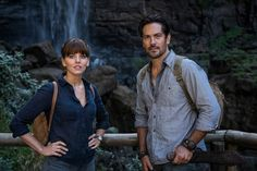 Hooten and the Lady Season 1 Ophelia Lovibond and Michael Landes Image 13 Hooten And The Lady, Michael Landes, Ophelia Lovibond, Roman, Alison Sweeney, Safari, Mark Strong, Jean Reno