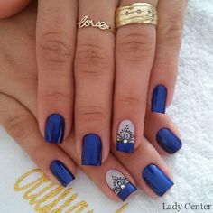20 - 2019 - 2020 Blue and Light Blue most beautiful nail designs with different designs - 1 period blue and light blue nail designs. Light Blue Nail Designs, Light Blue Nails, Nail Art Designs, Nails Design, Beautiful Nail Designs, Bling Nails, Manicure And Pedicure, Winter Nails, Toe Nails