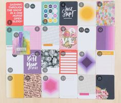 PARK AVE. Project Life® Kit at @studio_calico. Super excited over the non-traditional colors in the December kit!!