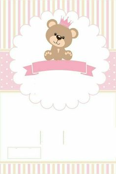 Teddy Bear Birthday, Baby Birthday, Baby Shawer, Baby Love, Baby Shower Princess, Baby Boy Shower, Minion Birthday Invitations, Baby Shower Invitaciones, Baby Posters
