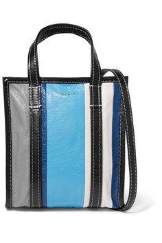 704889c56a Balenciaga - Bazar XS striped textured-leather tote
