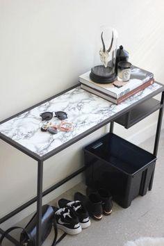 Foyer Table - 15 Ways To Fake Marble - Photos