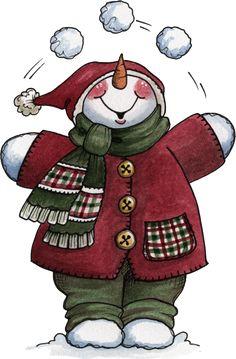 Juggler snowman