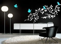 Vinyl wall decal... Love the idea for apartments or offices where you cant paint or hang things on the walls.