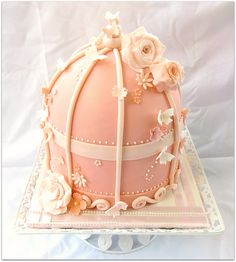 birdcage cake by Thecupcakelicious, via Flickr