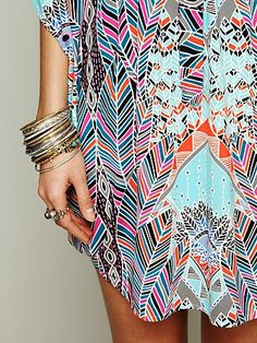 Dream Sequence Printed Poncho