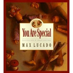 You Are Special by Max Lucado      Self esteem/social emotional    This book is great for telling kids that they are special and they are less likely to be hurt by nasty words if they don't let them stick to them, like the stickers in the book.