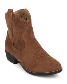 Qupid EF12 Women Embroidered Suede Almond Toe Zip Ankle Bootie - Taupe *** Check out the image by visiting the link.