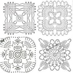 ergahandmade: Crochet Small Pillows + Diagrams Crochet Squares, Crochet Granny, Free Crochet, Granny Squares, Crochet Diagram, Crochet Patterns, Small Pillows, Arts And Crafts, Projects