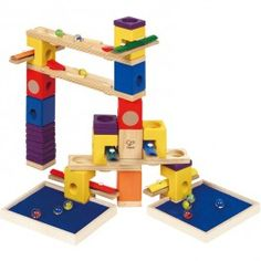 Music Motion Quadrilla 97 pc Musical Wooden Marble Run - Educational Toys Planet. Great gift for 4 years old child. Construction, creative play, marble run, and music making - all in one Music Motion building set from Quadrilla. Develops Skills - building skills, concentration, observation skills, manipulative skills, pretend play. #toys #learning #educational #gifts #child https://www.educationaltoysplanet.com/music-motion-quadrilla-97-pc-musical-wooden-marble-run.html