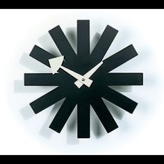 Vitra Nelson Asterisk Clock in Black from @Design Public. Must have for the mid-century modern home.
