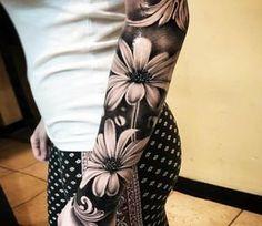 Flowers tattoo by Hugo Feist