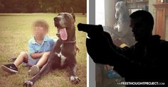 The family claims an off-duty officer shot and killed their dog for barking at his Pitt Bull, endangering several children who were riding bikes nearby.